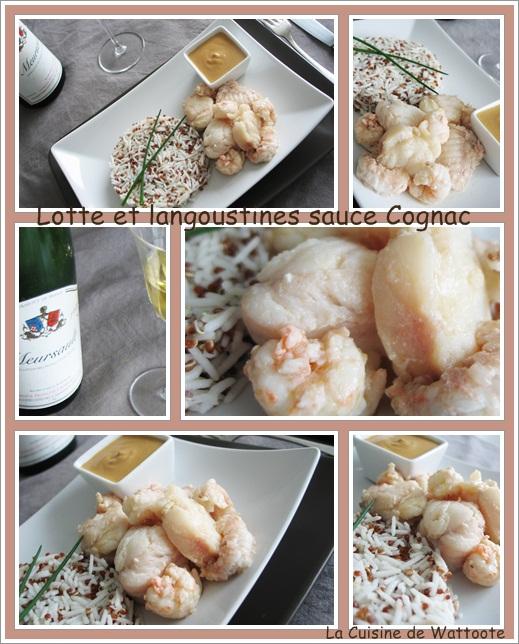 lotte langoustines sauce cognac