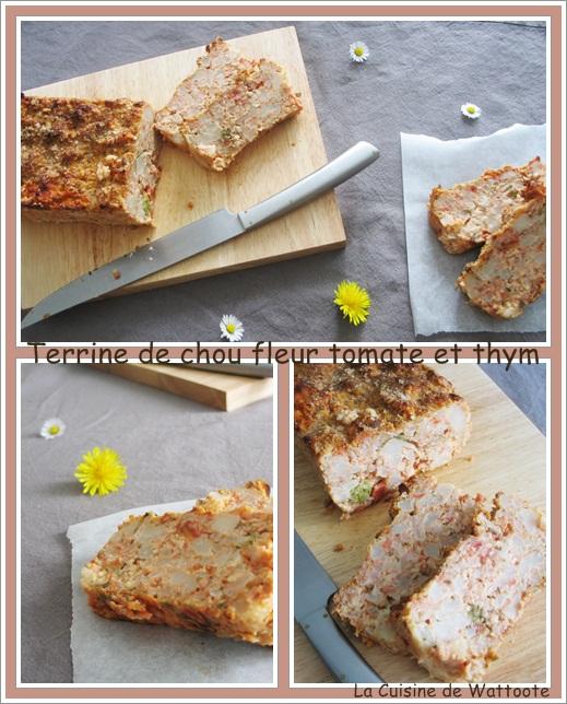 terrine chou fleur tomate thym