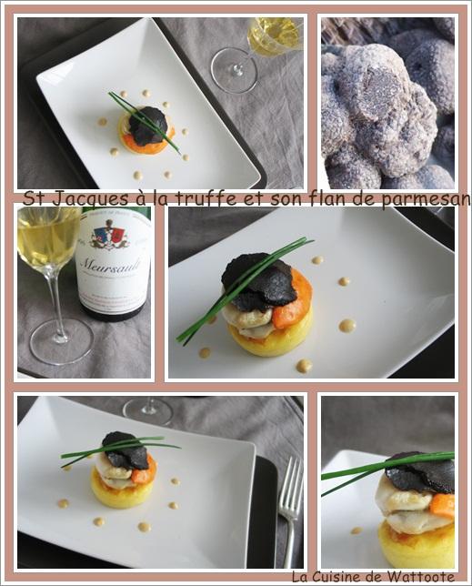 st jacques truffe flan parmesan