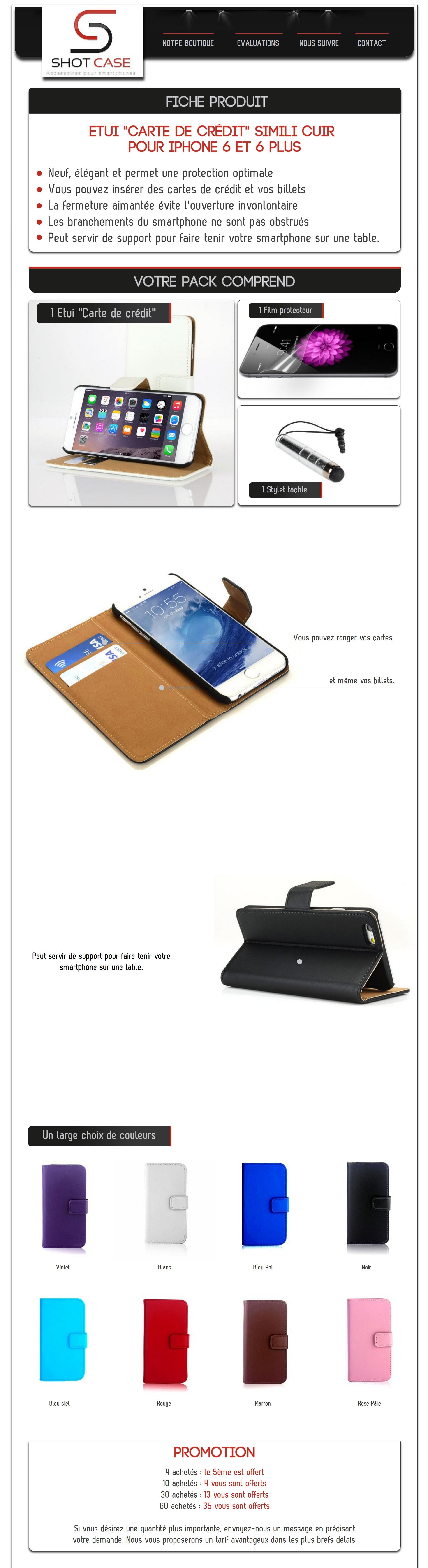 Etui porte feuille iphone 6 cuir (annonce)
