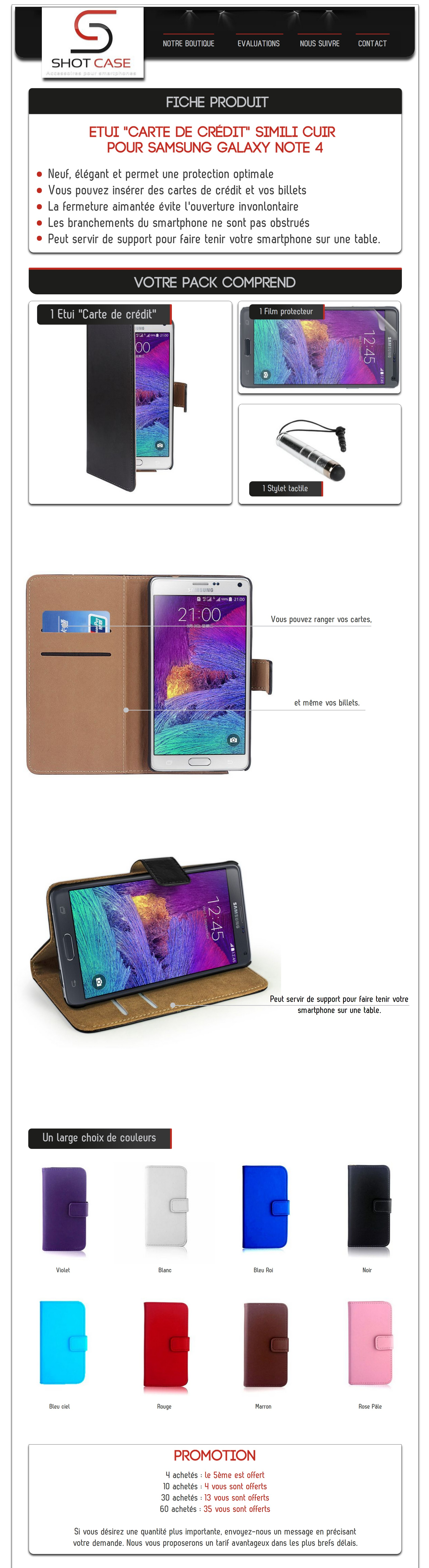 Etui Portefeuille Note 4 (annonce)