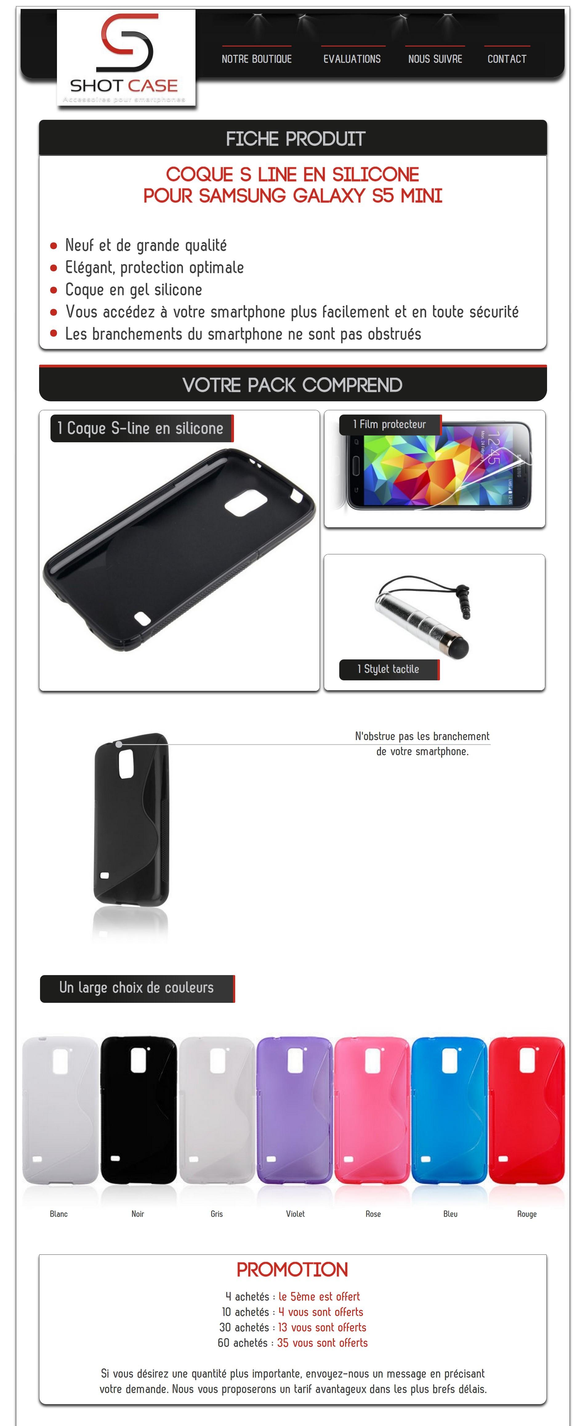 S-Line Samsung S5 (mini (annonce)