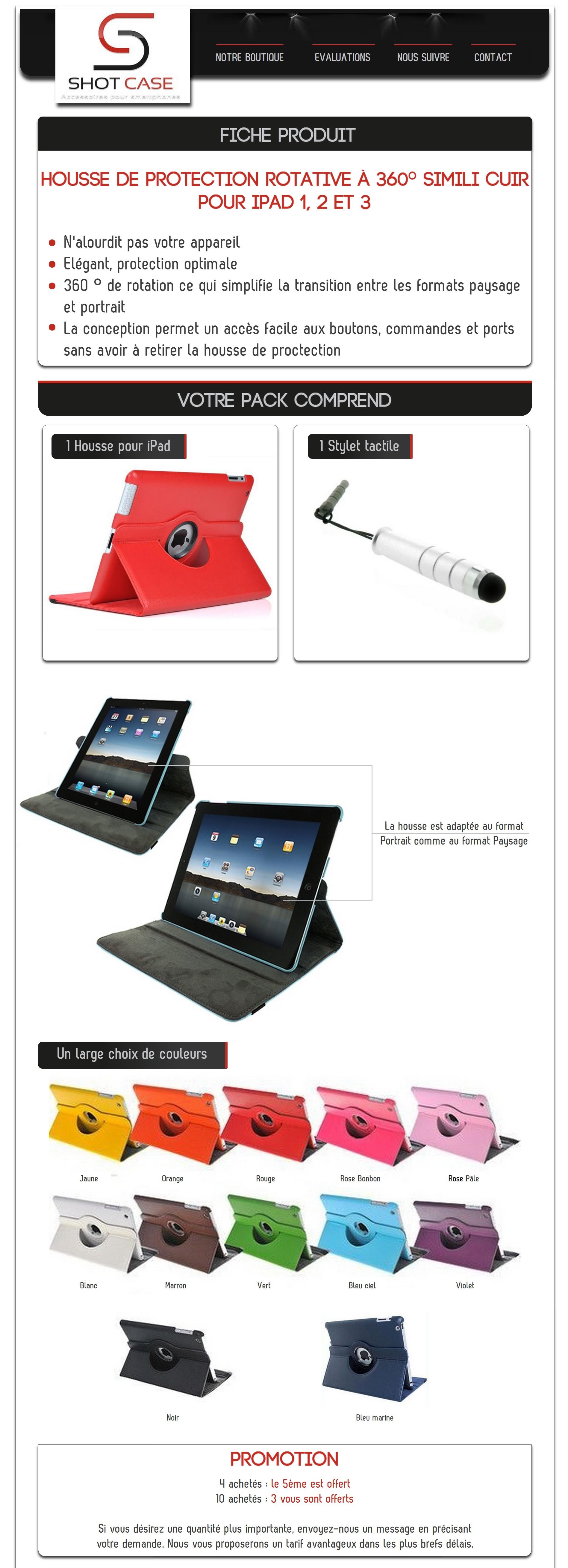 Housse iPad (annonce)