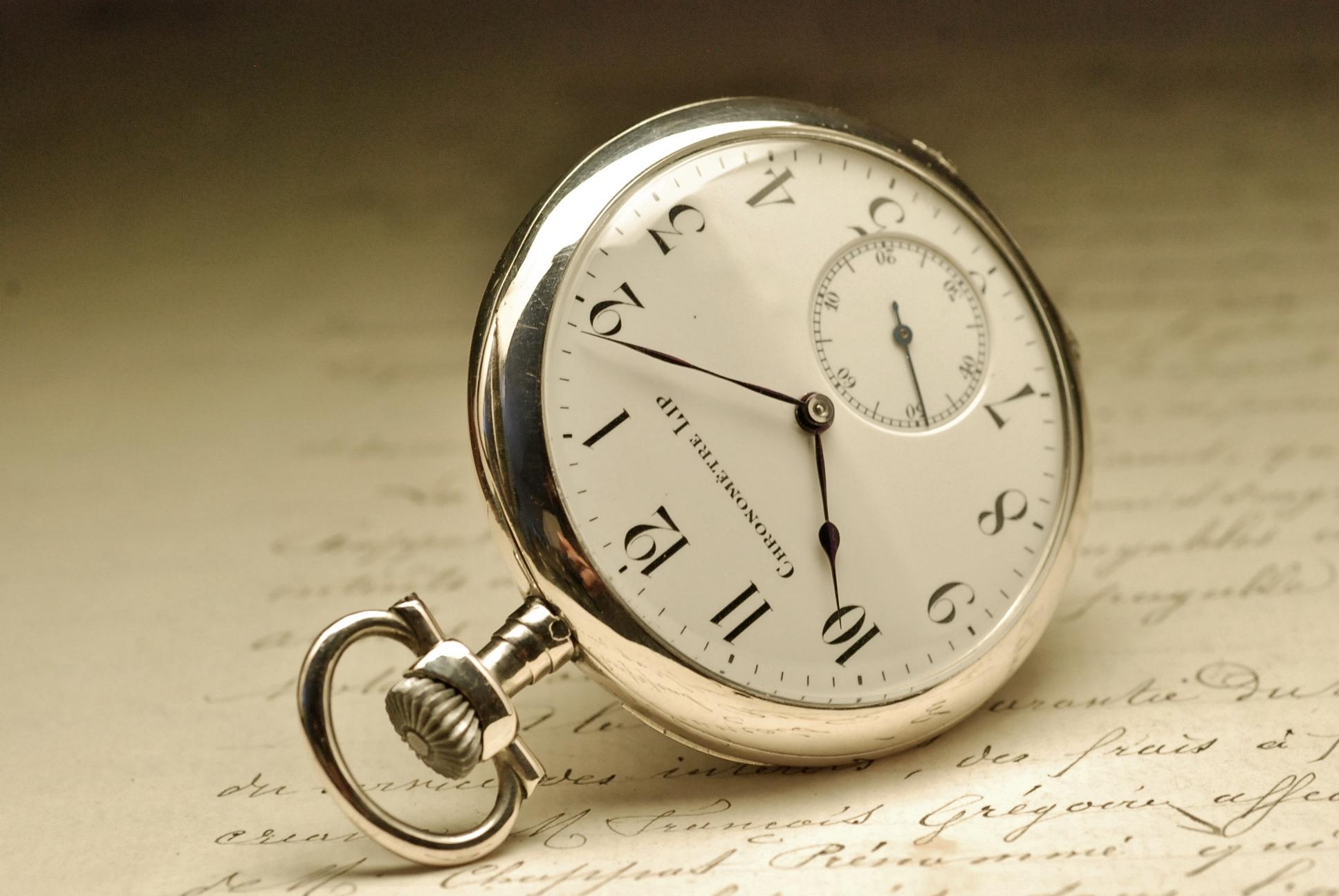 montre ancienne gousset lip chronometre en argent silver. Black Bedroom Furniture Sets. Home Design Ideas