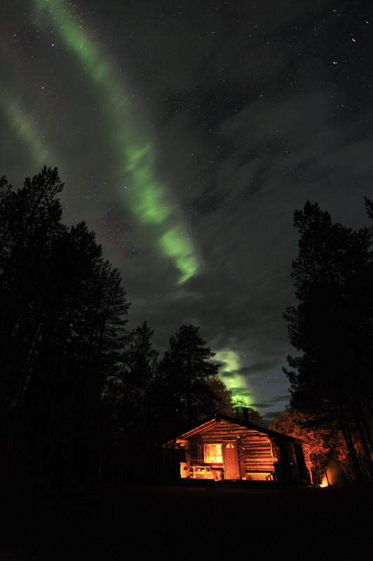 Chalet et Aurore boreale_5545
