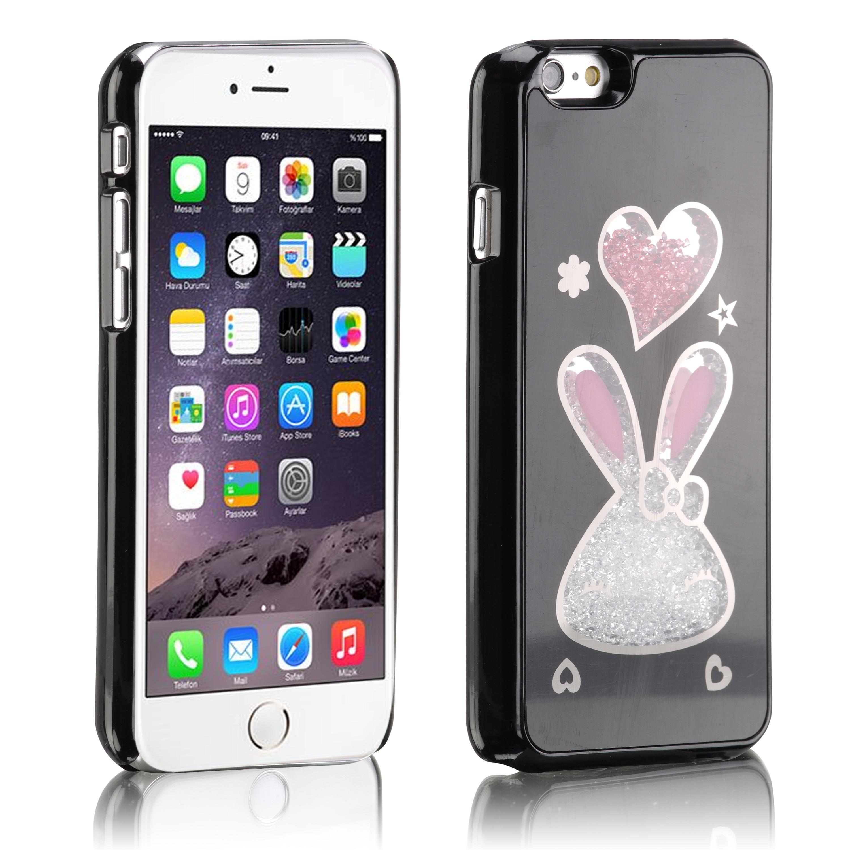 Coque lapin coeur cristal noir pour iphone 5 ebay for Fenetre zoom iphone x