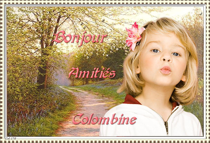 Girl Country Lane Bonjour