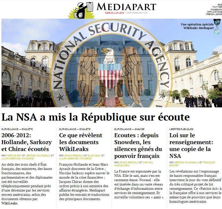 MÉDIAPART du Mercredi 24 Juin 2015