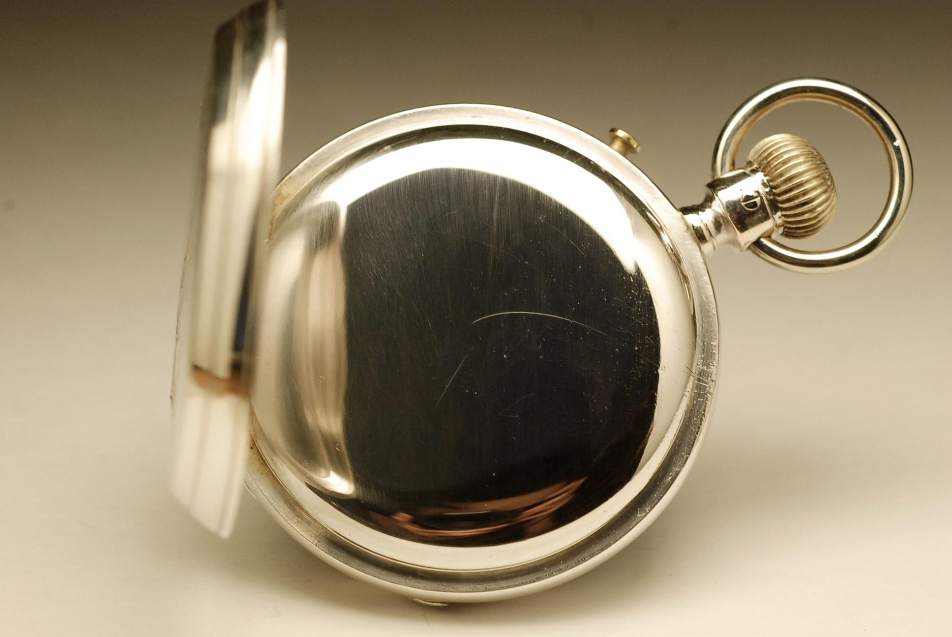 longines ancienne montre gousset chronographe en argent. Black Bedroom Furniture Sets. Home Design Ideas