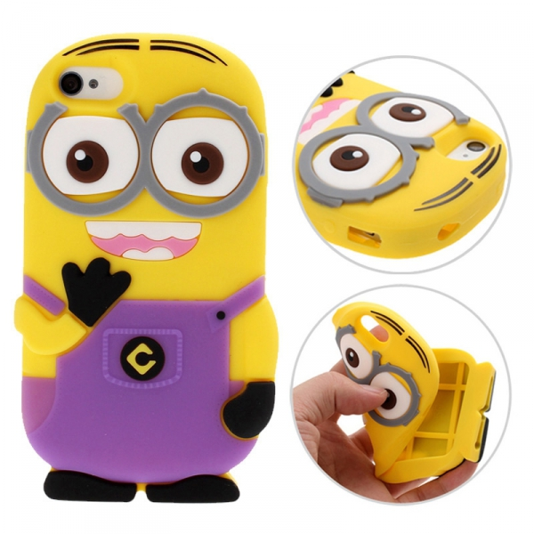 Housse etui coque silicone moi moche mechant minion violet pour iphone 6s ebay - Mechant minion ...
