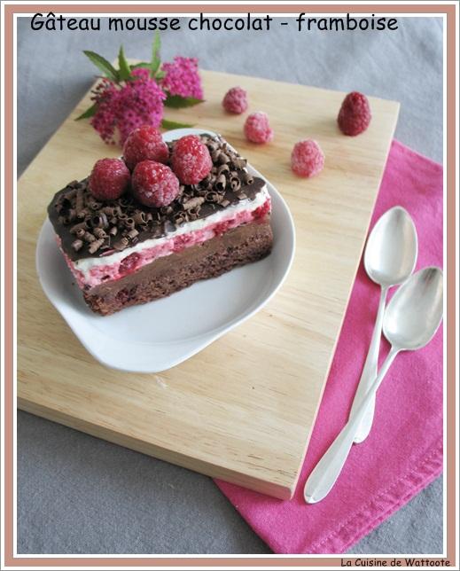 gâteau mousse chocolat -  framboise