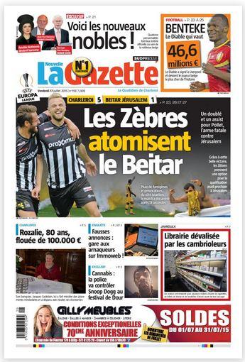 La nouvelle gazette du 17-07-2015 Belgique