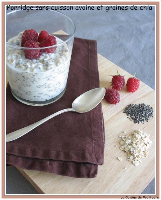 porridge avoine chia