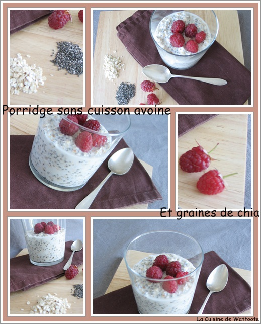porridge avoine chia