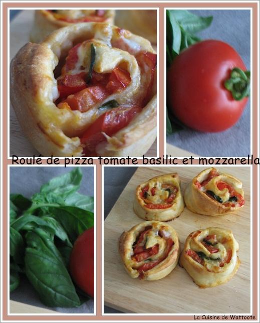roulé pizza tomate mozzarella basilic