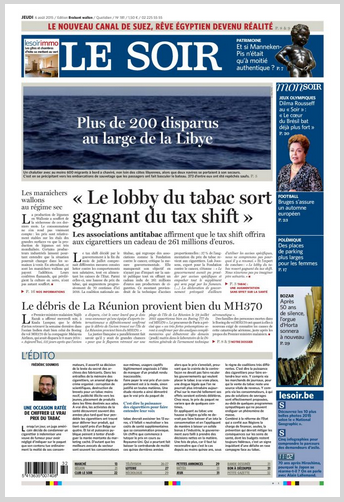 Le Soir Edition Bruxelles-Périphérie + Namur/luxembourg + Le soir IMMO Du Jeudi 06 Août 2015