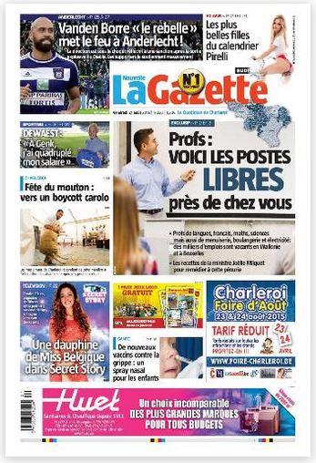 La nouvelle gazette du 21-08-2015 Belgique