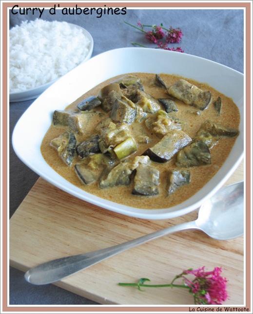 curry aubergines