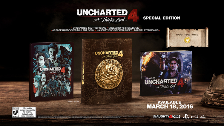 Uncharted 4 : 3 collectors au programme  150831083901736875