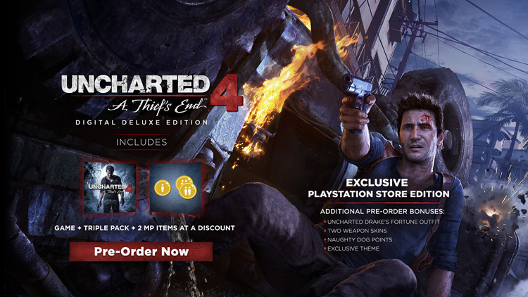 Uncharted 4 : 3 collectors au programme  150831084457867890