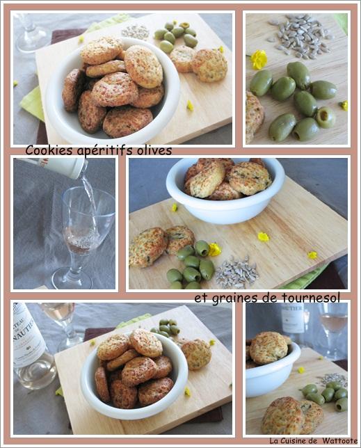 cookies aperitif olives graines tournesol