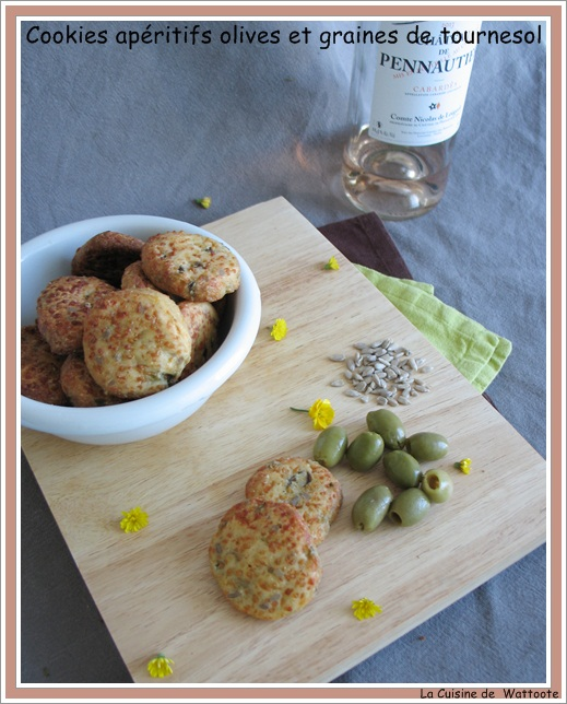 cookies aperitif olives graines tournesol