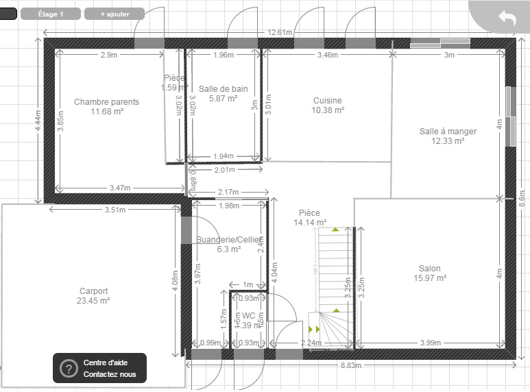 130m entr e au nord expo sud r 1 3 chambres 2 sdb for Escalier entre cuisine et salon