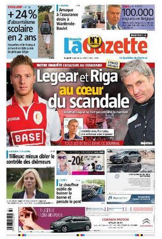 La nouvelle gazette du 10-09-2015 Belgique