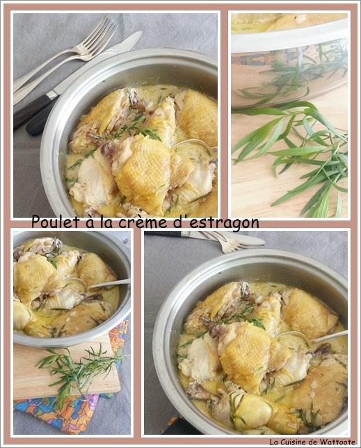 poulet crème estragon