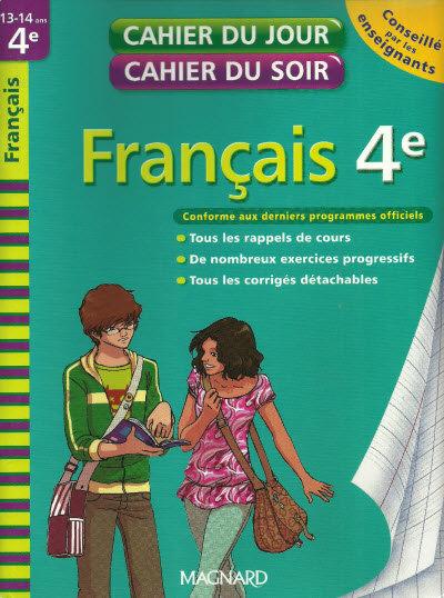 télécharger Cahier du jour cahier du soir : Français 4e