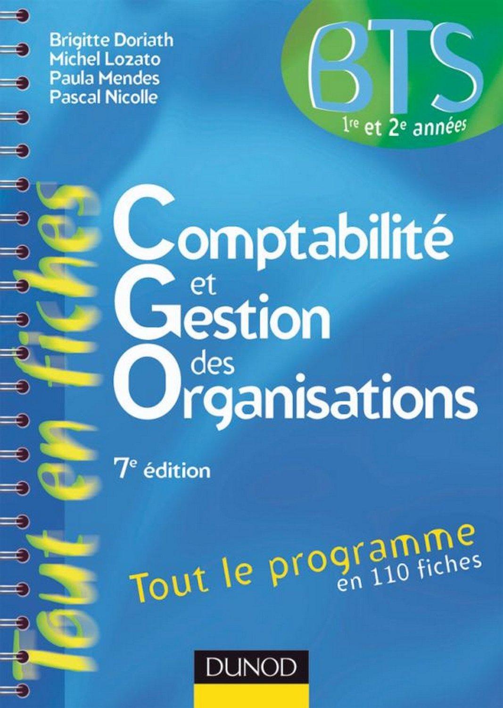 Comptabilité et gestion des organisations BTS 1e et 2e années