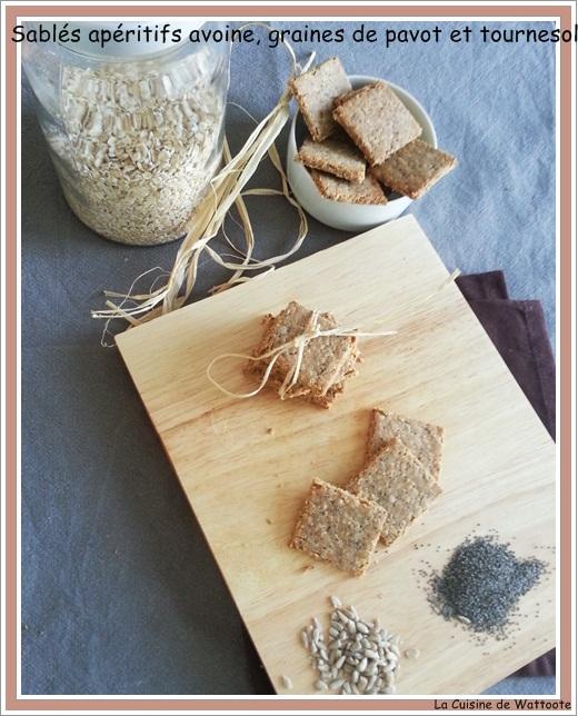 sablés  apéritifs avoine et graines