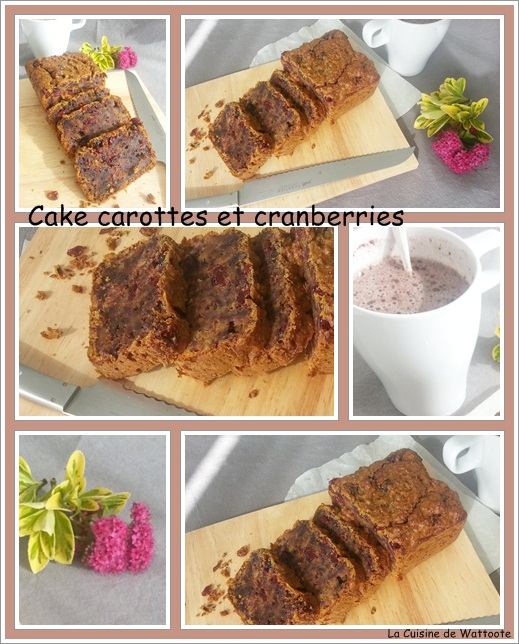 cake carotte cranberries