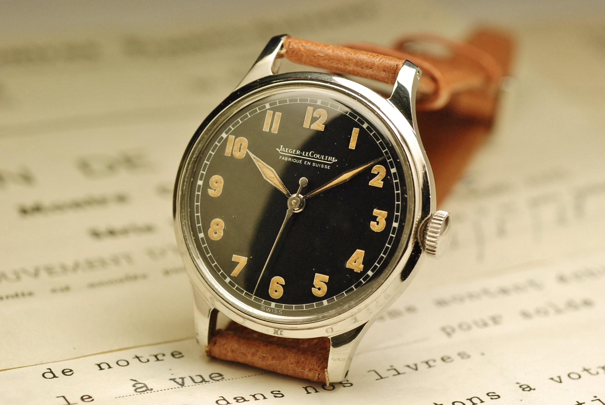 jaeger lecoultre vintage watch montre ancienne militaire. Black Bedroom Furniture Sets. Home Design Ideas