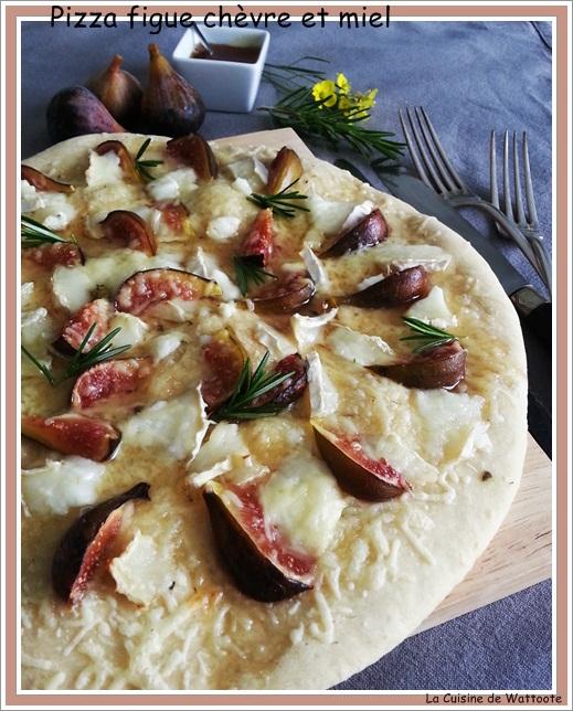pizza figue chèvre miel