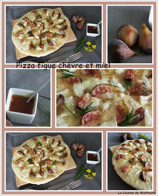 pizza figue chèvre miel