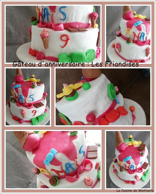 gâteau anniversaire friandises