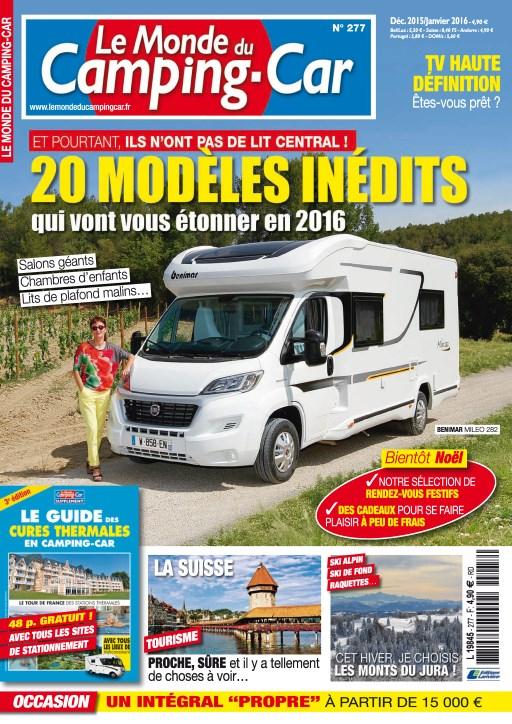 Le Monde du Camping-Car N°277 - Decembre 2015 /Janvier 2016