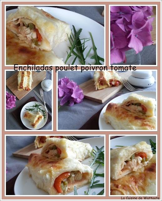 enchiladas poulet poivron
