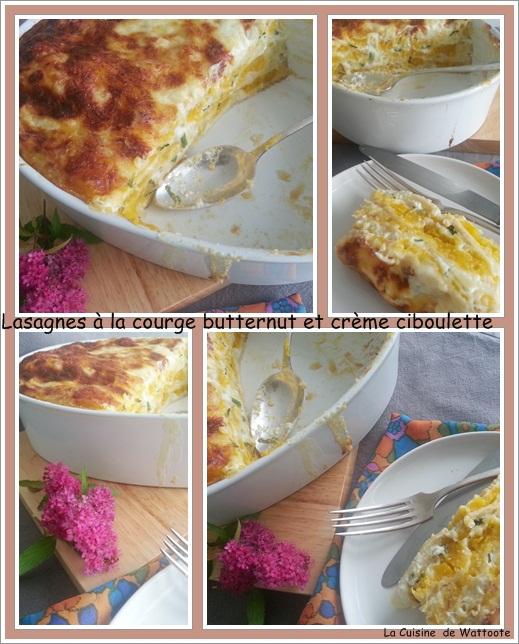 lasagne butternut crème ciboulette