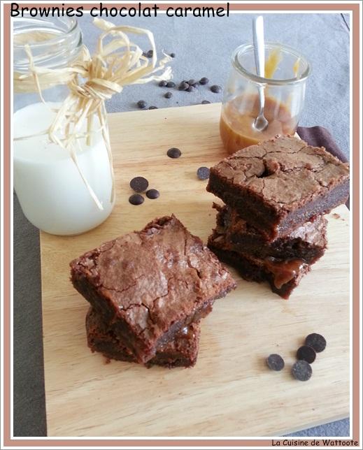 brownies chocolat caramel