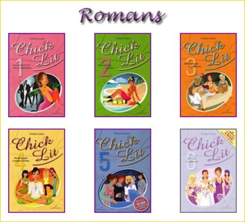 Série Les Chick Lit de Amélie Dubois, 6 tomes