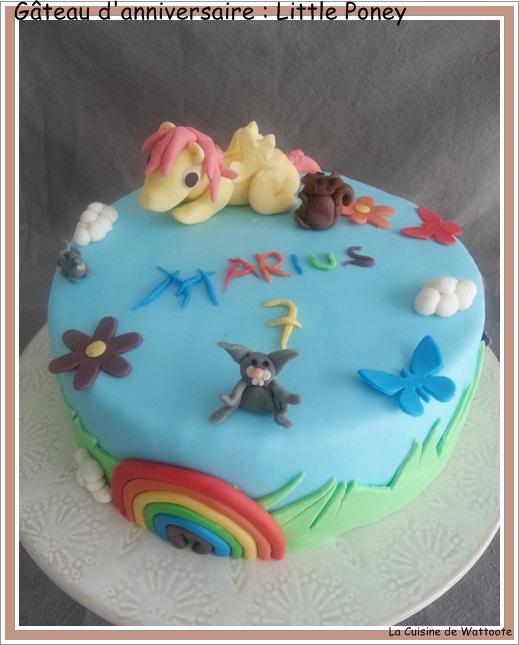 gâteau anniversaire little poney