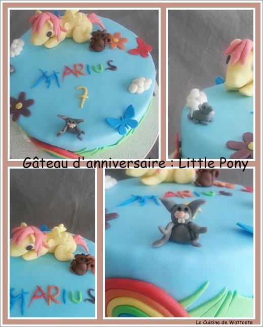 gâteau anniversaire little pony