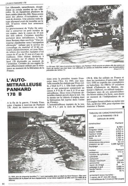 auto mitrailleuse Panhard 178 B en Indochine 151202044802144572