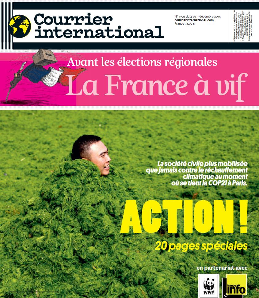 COURRIER INTERNATIONAL N°1309 du 3 au 9 décembre 2015