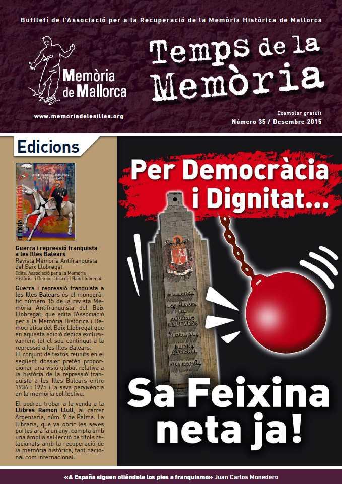 «Temps de la Memòria», 35 (desembre 2015) [Sa Feixina neta ja!]