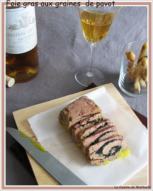 foie gras pavot