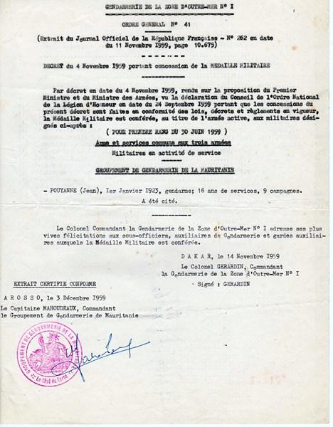 Petit aperçu d'un gendarme en A.O.F en 1957/58 151227070931473293