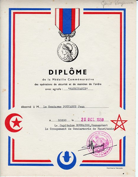 Petit aperçu d'un gendarme en A.O.F en 1957/58 151227070937429889